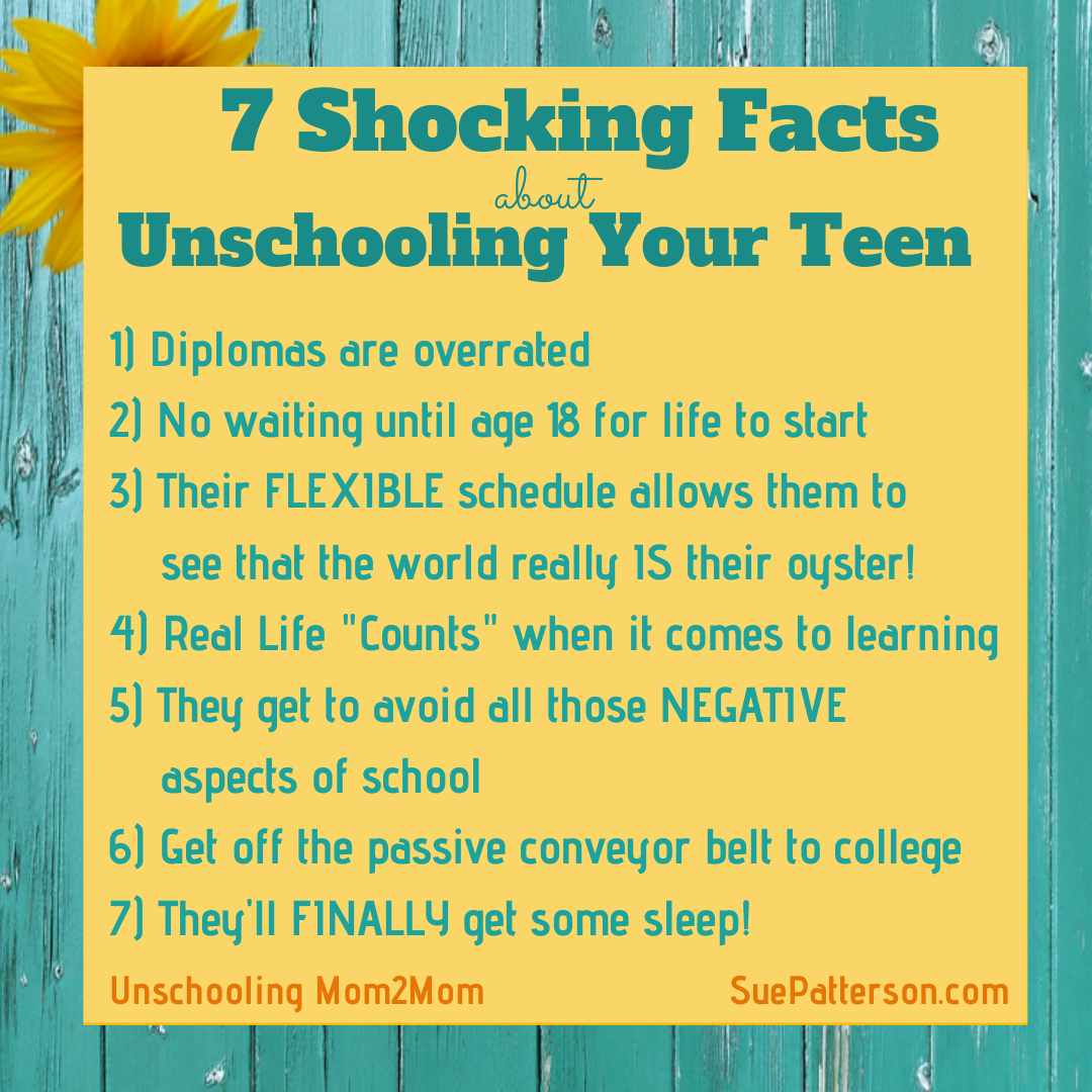 7 Shocking Facts about Unschooling Teens