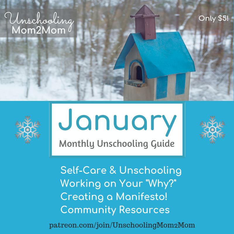 January Monthly Unschooling Guide