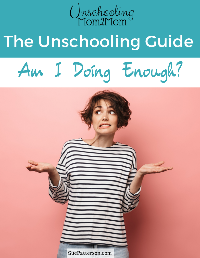 Unschooling Guide Cover: Am I Doing Enought?