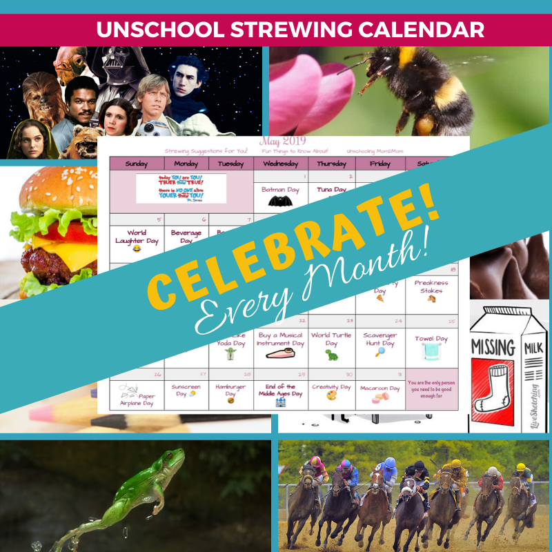 Unschool Strewing Calendar