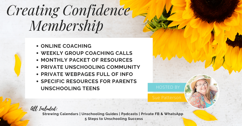 Creating Confidence Membership for Unschooling Parents