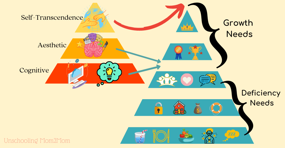 Adjusted Maslow Pyramid to include more Growth Needs
