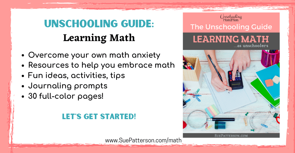 Unschooling Guide Cover for Learning Math as Unschoolers