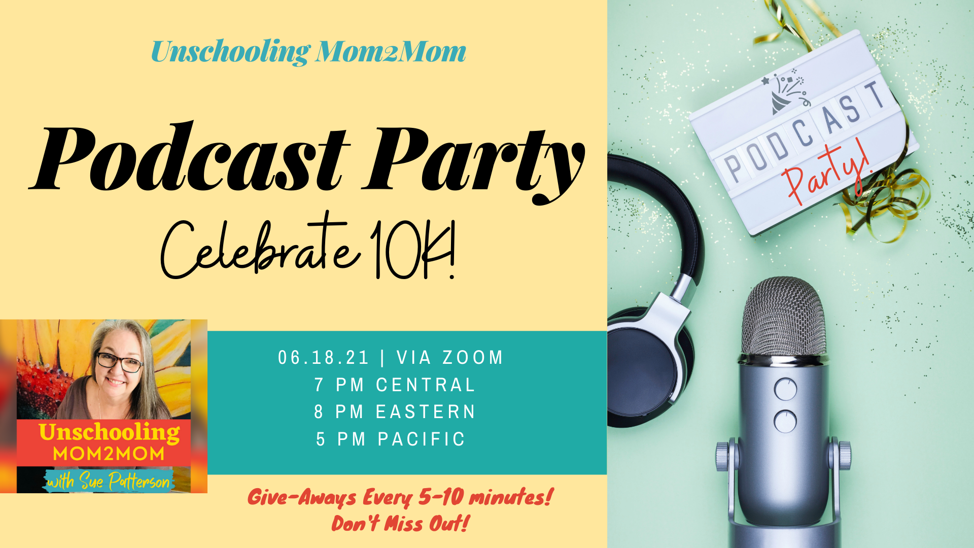 Podcast Party to Celebrate 10K downloads