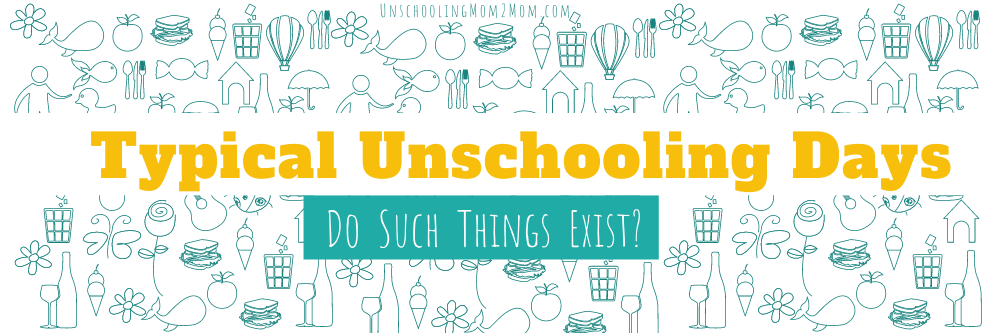 Typical unschooling day with fun clipart ideas